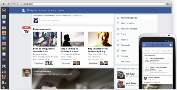 Novo layout facebook 2013