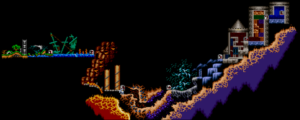Super Ghouls'n Ghosts Level_Map