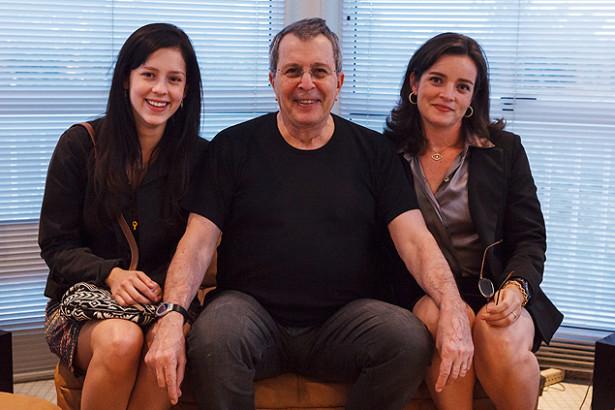 Sophia Abrahão, Daniel Filho e Maria Mariana