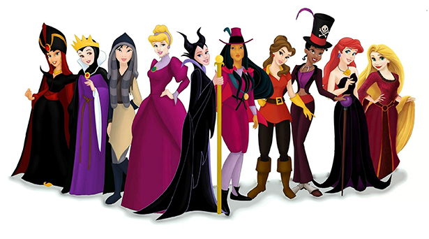 Disney-Princesses-as-Disney-Villains-disney-villains