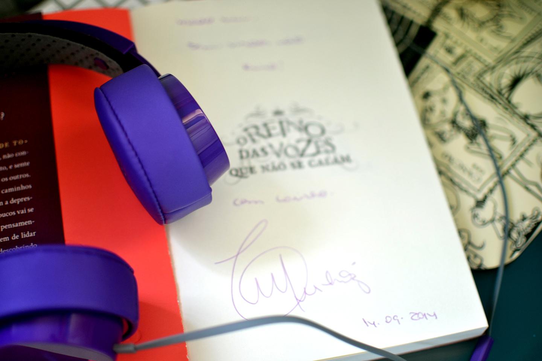 O Reino das vozes - autografo