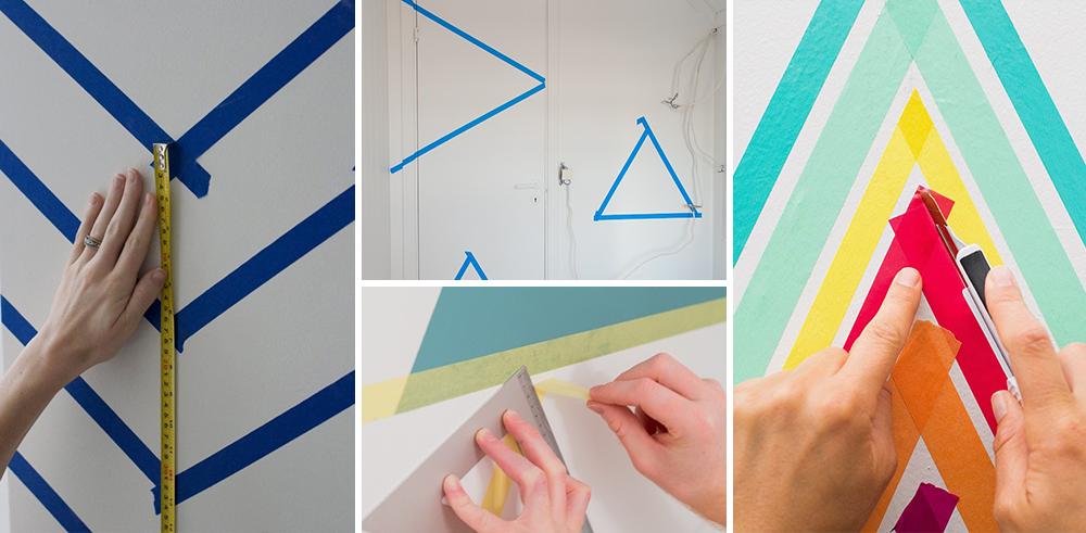 Paredes geom tricas deixando a decora o bem mais - Pintura de pizarra para paredes ...