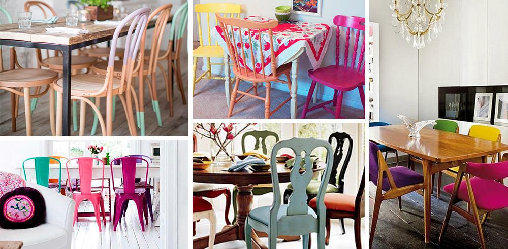 Cadeiras coloridas com formatos iguais_Modo Meu